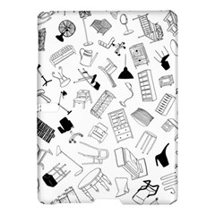 Furniture Black Decor Pattern Samsung Galaxy Tab S (10 5 ) Hardshell Case  by Simbadda