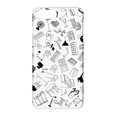 Furniture Black Decor Pattern Apple Iphone 7 Plus Hardshell Case by Simbadda