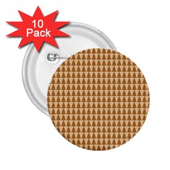 Pattern Gingerbread Brown 2 25  Buttons (10 Pack)  by Simbadda