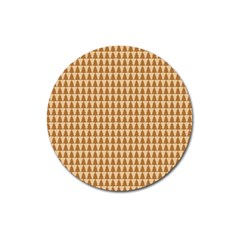Pattern Gingerbread Brown Magnet 3  (round) by Simbadda