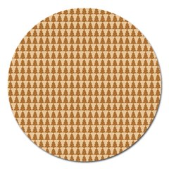 Pattern Gingerbread Brown Magnet 5  (round) by Simbadda