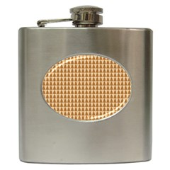 Pattern Gingerbread Brown Hip Flask (6 Oz) by Simbadda