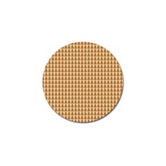Pattern Gingerbread Brown Golf Ball Marker (4 Pack) by Simbadda
