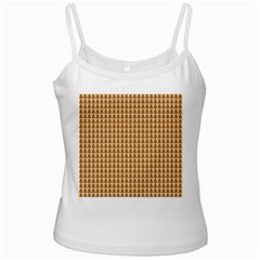 Pattern Gingerbread Brown Ladies Camisoles by Simbadda