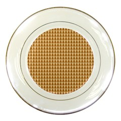Pattern Gingerbread Brown Porcelain Plates by Simbadda