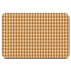 Pattern Gingerbread Brown Large Doormat  by Simbadda