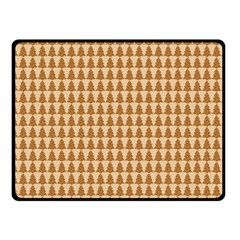 Pattern Gingerbread Brown Fleece Blanket (small) by Simbadda