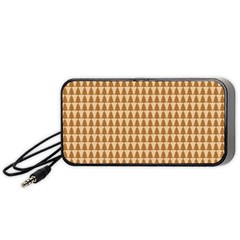 Pattern Gingerbread Brown Portable Speaker (black) by Simbadda
