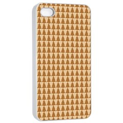 Pattern Gingerbread Brown Apple Iphone 4/4s Seamless Case (white) by Simbadda
