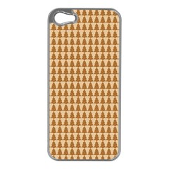 Pattern Gingerbread Brown Apple Iphone 5 Case (silver) by Simbadda