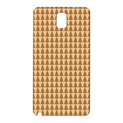 Pattern Gingerbread Brown Samsung Galaxy Note 3 N9005 Hardshell Back Case by Simbadda