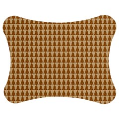 Pattern Gingerbread Brown Jigsaw Puzzle Photo Stand (bow) by Simbadda