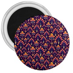 Abstract Background Floral Pattern 3  Magnets by Simbadda