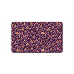 Abstract Background Floral Pattern Magnet (name Card) by Simbadda