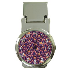 Abstract Background Floral Pattern Money Clip Watches by Simbadda