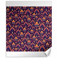 Abstract Background Floral Pattern Canvas 16  X 20   by Simbadda