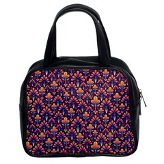 Abstract Background Floral Pattern Classic Handbags (2 Sides) by Simbadda