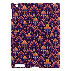 Abstract Background Floral Pattern Apple Ipad 3/4 Hardshell Case by Simbadda