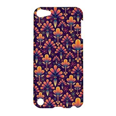 Abstract Background Floral Pattern Apple Ipod Touch 5 Hardshell Case by Simbadda