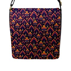 Abstract Background Floral Pattern Flap Messenger Bag (l)  by Simbadda