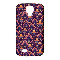 Abstract Background Floral Pattern Samsung Galaxy S4 Classic Hardshell Case (pc+silicone) by Simbadda