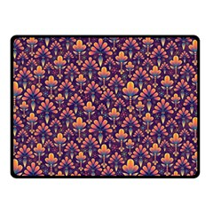 Abstract Background Floral Pattern Double Sided Fleece Blanket (small)  by Simbadda