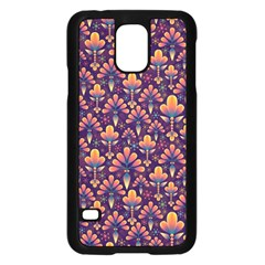 Abstract Background Floral Pattern Samsung Galaxy S5 Case (black) by Simbadda