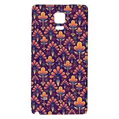 Abstract Background Floral Pattern Galaxy Note 4 Back Case by Simbadda