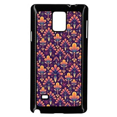 Abstract Background Floral Pattern Samsung Galaxy Note 4 Case (black)