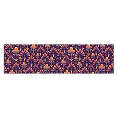 Abstract Background Floral Pattern Satin Scarf (oblong) by Simbadda