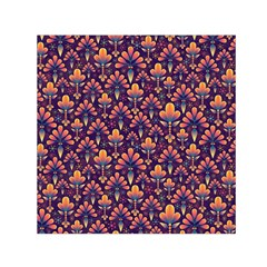 Abstract Background Floral Pattern Small Satin Scarf (square) by Simbadda