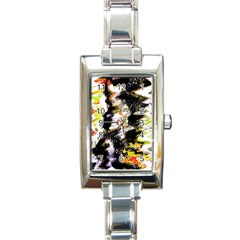 Canvas Acrylic Digital Design Rectangle Italian Charm Watch by Simbadda