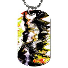 Canvas Acrylic Digital Design Dog Tag (one Side) by Simbadda