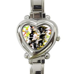 Canvas Acrylic Digital Design Heart Italian Charm Watch by Simbadda