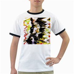 Canvas Acrylic Digital Design Ringer T Shirts by Simbadda