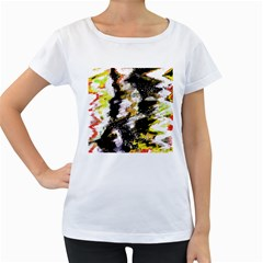 Canvas Acrylic Digital Design Women s Loose Fit T Shirt (white) by Simbadda