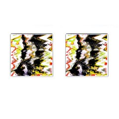 Canvas Acrylic Digital Design Cufflinks (square) by Simbadda