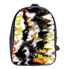 Canvas Acrylic Digital Design School Bags (xl)  by Simbadda