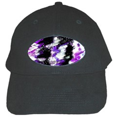 Canvas Acrylic Digital Design Black Cap by Simbadda