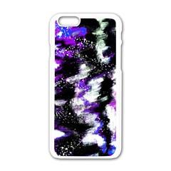 Canvas Acrylic Digital Design Apple Iphone 6/6s White Enamel Case by Simbadda
