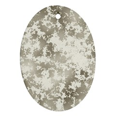 Wall Rock Pattern Structure Dirty Ornament (oval)