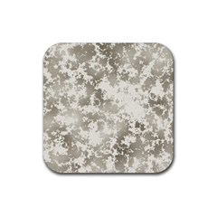 Wall Rock Pattern Structure Dirty Rubber Square Coaster (4 Pack)  by Simbadda