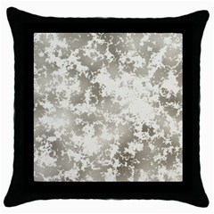 Wall Rock Pattern Structure Dirty Throw Pillow Case (black) by Simbadda