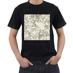 Wall Rock Pattern Structure Dirty Men s T Shirt (black) (two Sided) by Simbadda