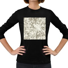 Wall Rock Pattern Structure Dirty Women s Long Sleeve Dark T Shirts by Simbadda