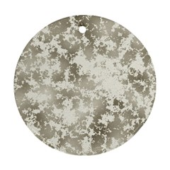 Wall Rock Pattern Structure Dirty Round Ornament (two Sides) by Simbadda