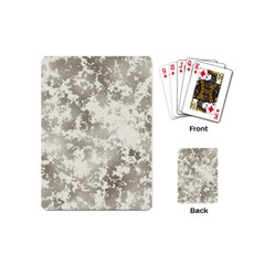 Wall Rock Pattern Structure Dirty Playing Cards (mini)  by Simbadda