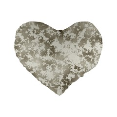 Wall Rock Pattern Structure Dirty Standard 16  Premium Flano Heart Shape Cushions by Simbadda