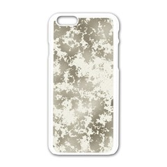 Wall Rock Pattern Structure Dirty Apple Iphone 6/6s White Enamel Case by Simbadda
