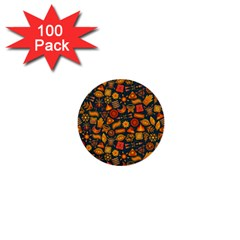 Pattern Background Ethnic Tribal 1  Mini Buttons (100 Pack)  by Simbadda